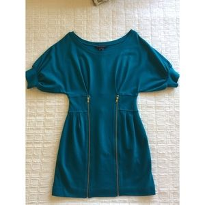 French Connection Short Sleeve Turquoise Dress